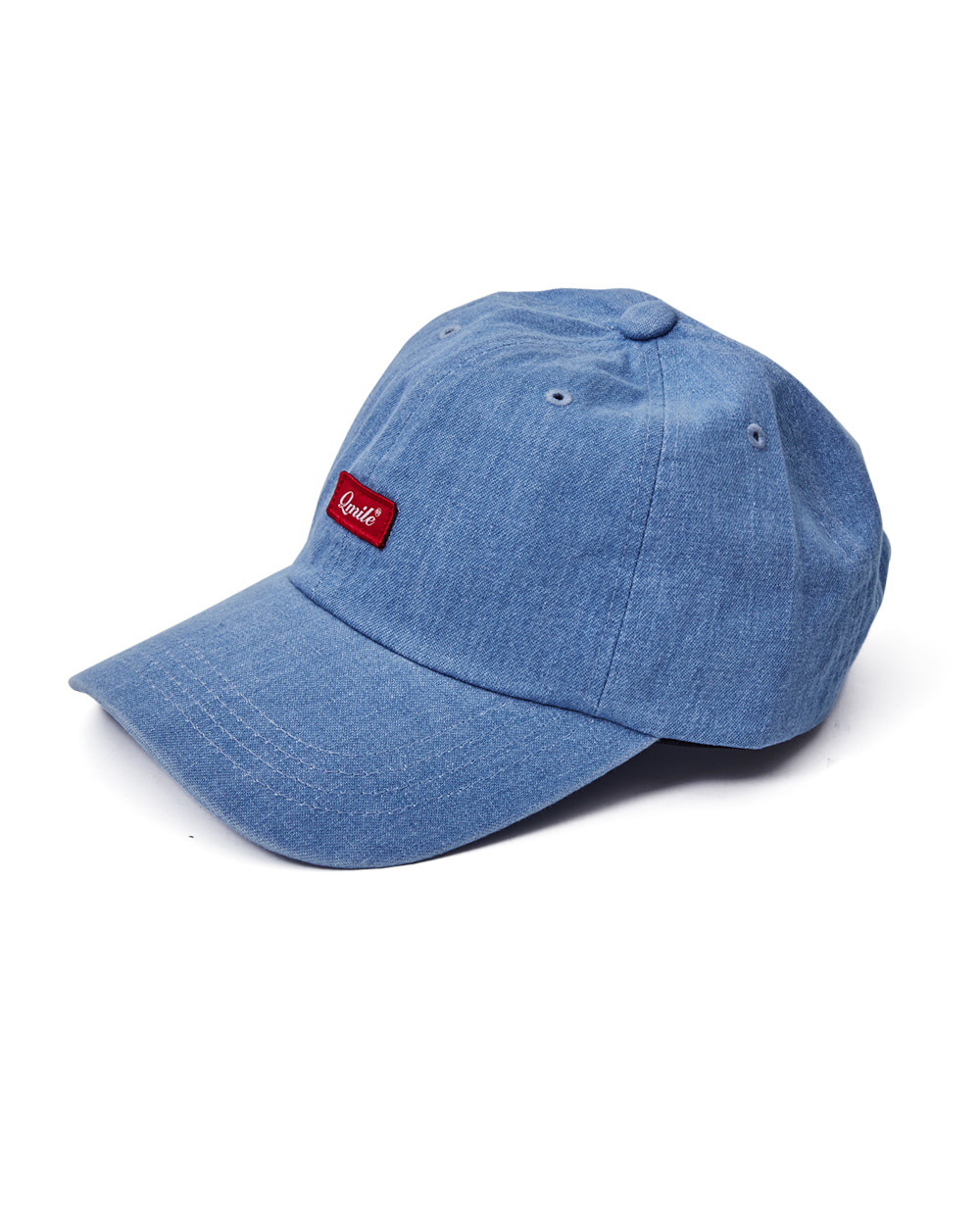 SCRIPT RED BOX BALLCAP | DENIM