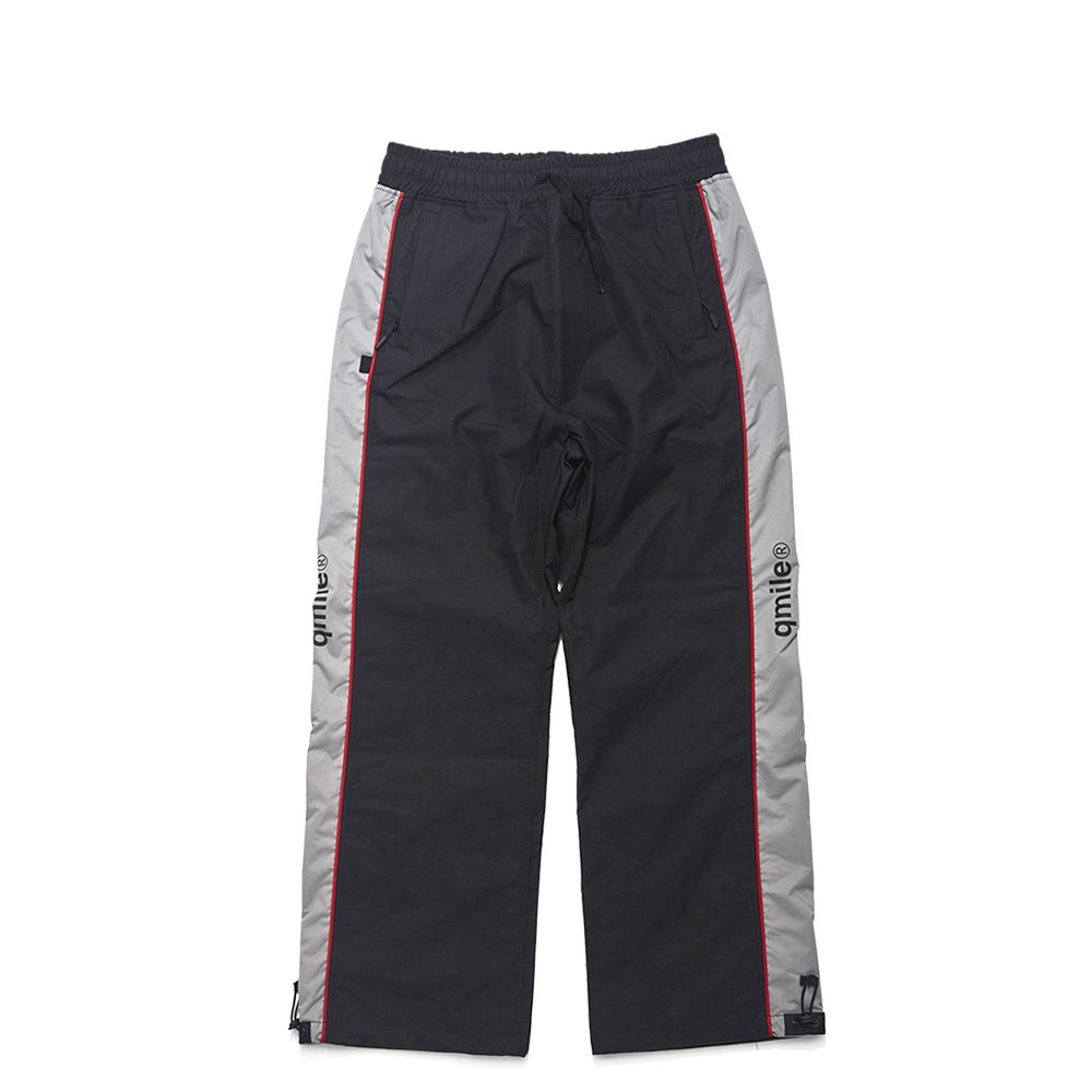 42A WIDE TRACK PANTS BLACK