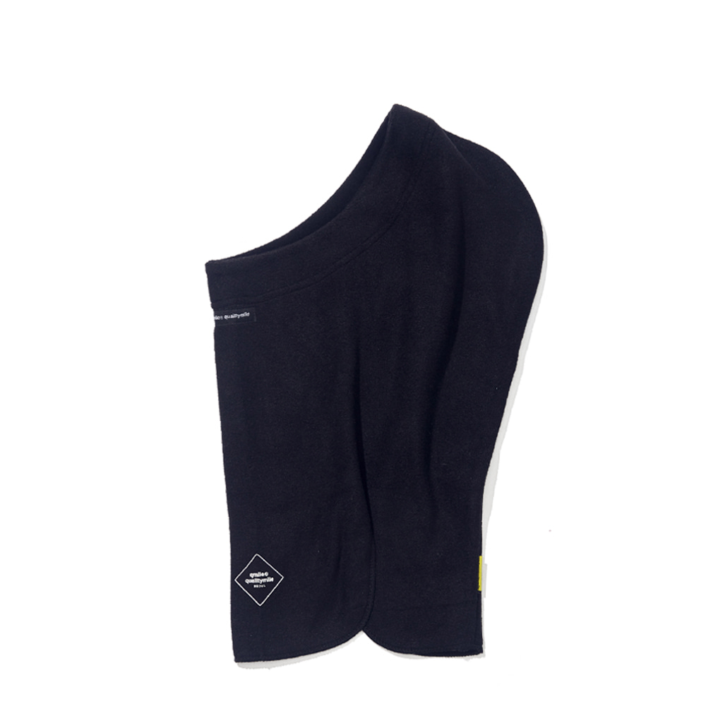 FLEECE OPEN BALACLAVA BLACK