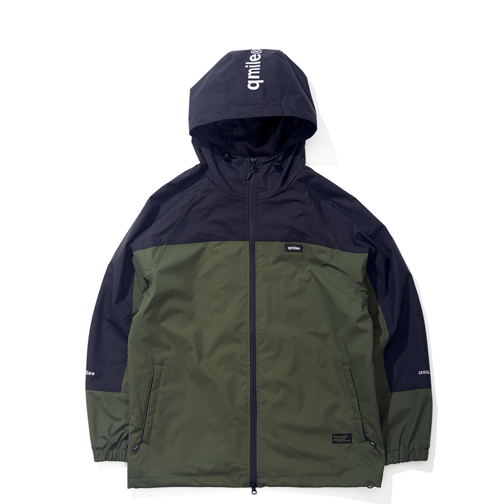 23B UPPER BLOCK JACKET DEEP GREEN