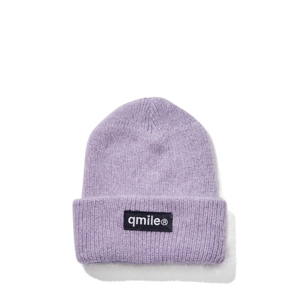 BLACK WAPPEN ANGORA BEANIE LIGHT PURPLE